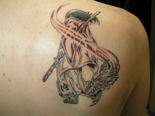 samurai dragon with sword