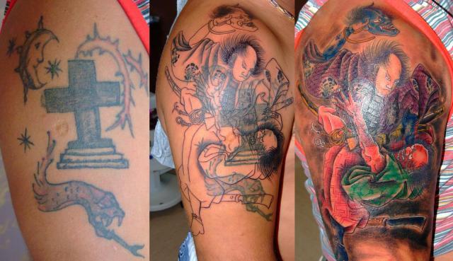 japanese fight tattoo design