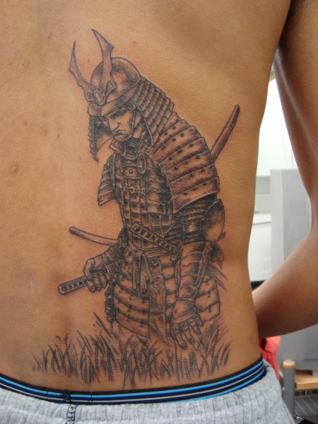 samurai tattoo sketch