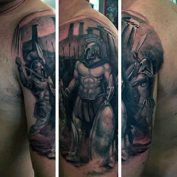 black samurai tattoo design