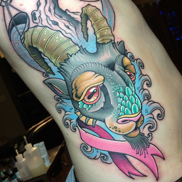 traditional capricorn tattoo