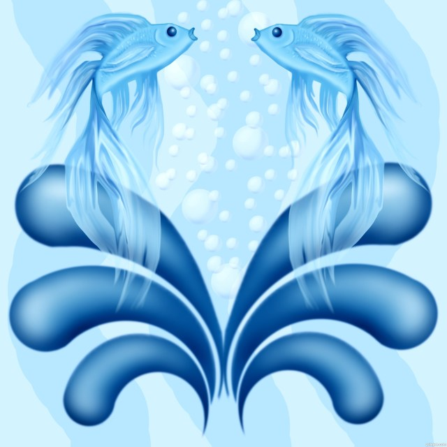 lovely pisces tattoo design