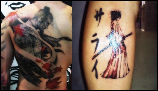 wonderful sketch of the samurai tattoo