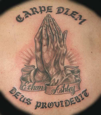 religious carpe diem tattoo on back