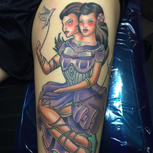 gemini tattoo for girls