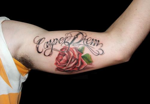 carpe diem tattoo withrose