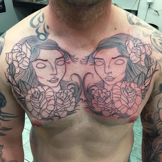 twin girl gemini tattoo