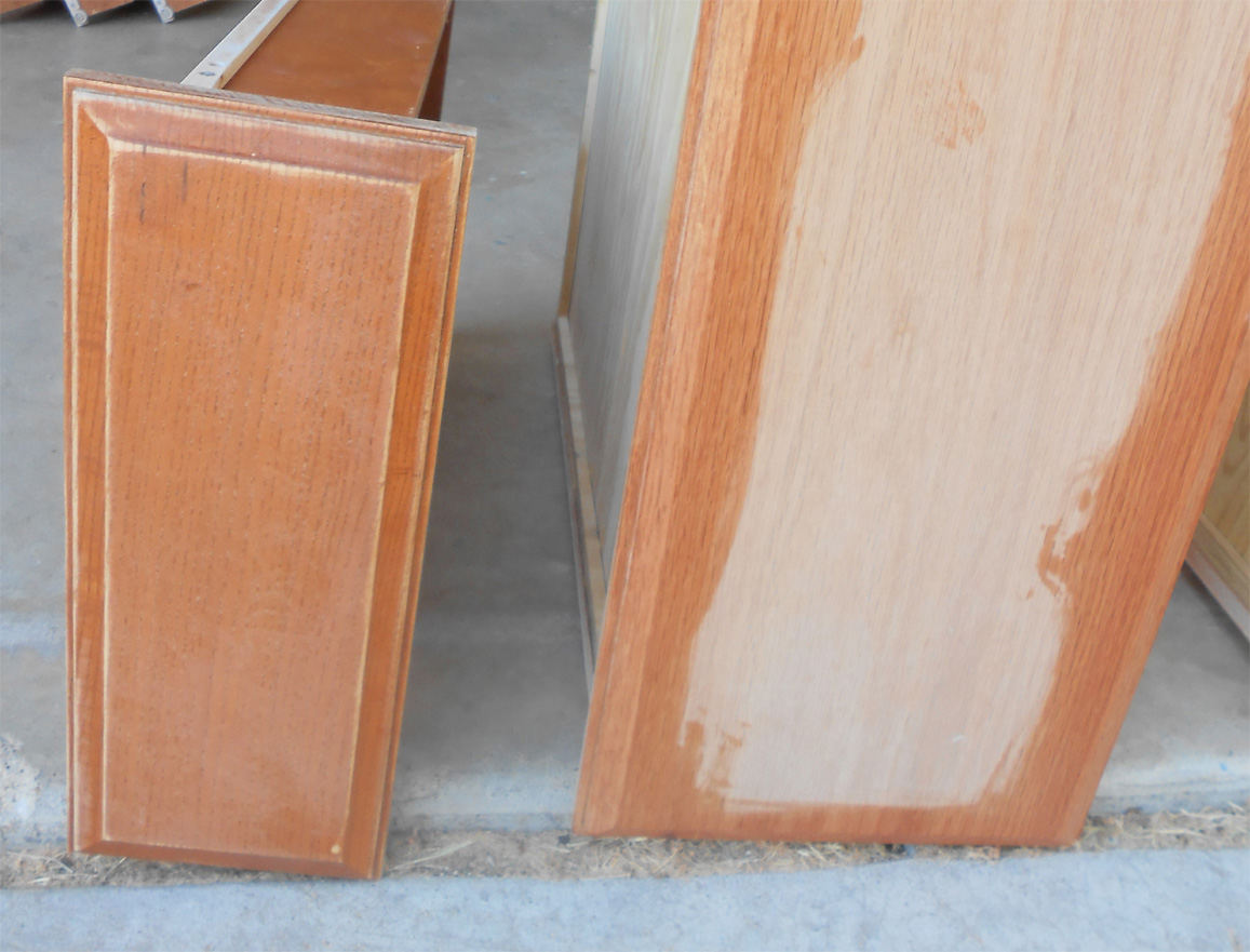 2 staining kitchen cabinets 3