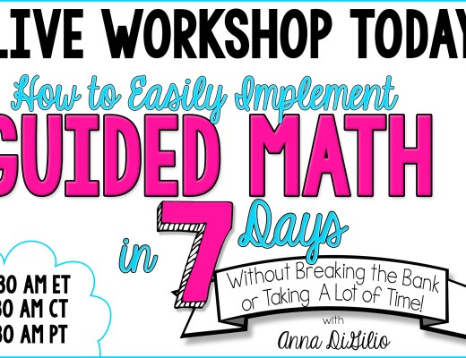 GUIDED MATH LIVE TODAY