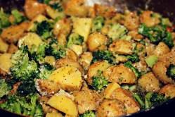Small Of Garlic Parmesan Potatoes