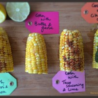 Boiled Corn and 4 Flavors !