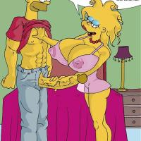 Lisa Simpson has giant titties now which make Bart's giant weenie highly rock hard!