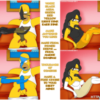 No matter what color of hair does Marge Simpson have - she is always horny!