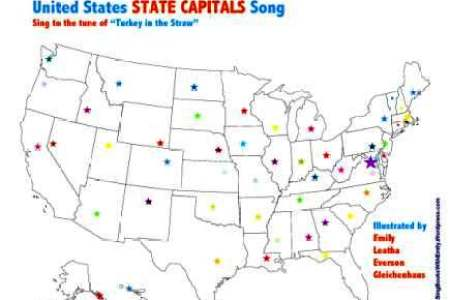 united states state capitals song, a singable picture book
