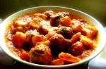 Ricotta Gnocchi and Sausage Meatballs with Tomato-Pepper Sauce