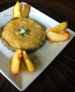 Creamy Peach Tart with Raw Pepita Crust
