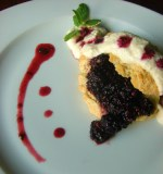 Blackberry-Mint Shortcakes with Almond Cream