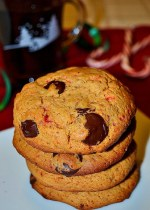 Chocolate Chip Candy Cane Cookies {Gluten-free}