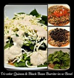 Tri-Color Quinoa and Black Bean Burrito-in-a-Bowl