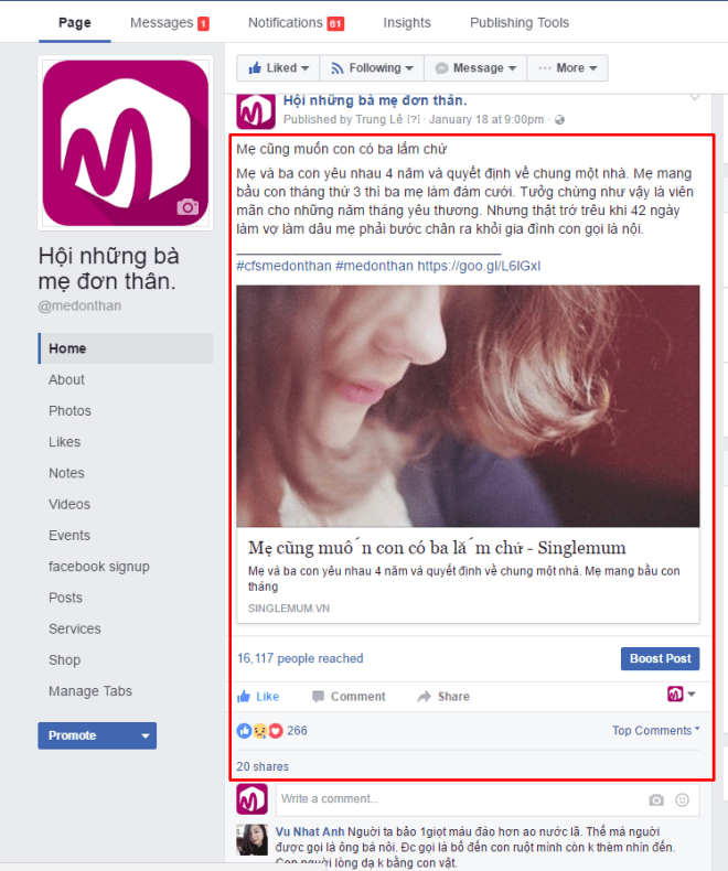 Bài viết facebook