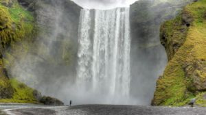 stock-footage-hd-video-of-dark-powerful-waterfall-with-lots-of-water-spray-skogafoss-in-iceland-hd-video-hdr