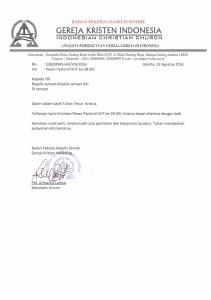 Surat Pastoral 1 HUT GKI 2016