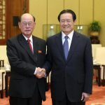 Zhou Yongkang, right, with DPRK Minister of Public Security Ri Myong Su in Beijing, July 23, 2012 | Via NK Leadership Watch