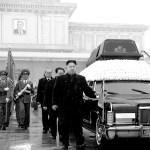 Kim Il-Sung casts charismatic glances upon Kim 2.0 and Kim 3.0