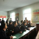 Mobilizing at a Pyongyang Middle School | Image via Rodong Sinmun