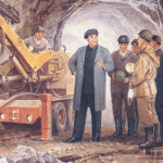KIM IL SUNG DOWN THE MINES