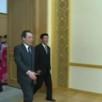 Wu Dawei in Pyongyang, March 17/18, 2014. Image via Chosun Central TV.