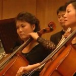 Members of the Yun Isang Ensemble, Pyongyang. Image via Chosun Central Television.