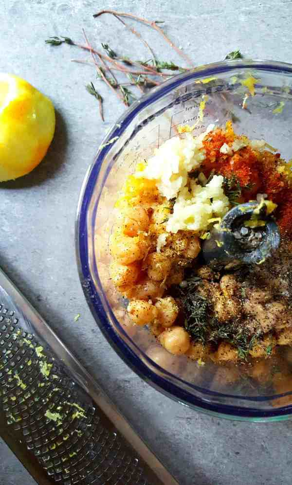 lemon thyme hummus