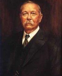 Oil painting of Sir Arthur Conan Doyle