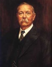 Oil painting of Sir Arthur Conan Doyle