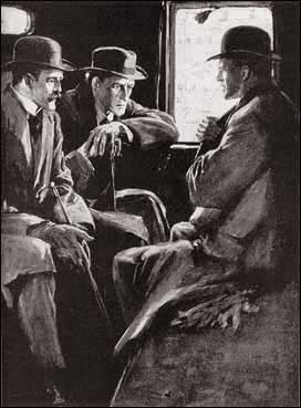 LEANING FORWARD IN THE CAB, HOLMES LISTENED INTENTLY