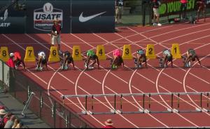 Women's 100m Hurdles Prelim Heat 1 - USATF Outdoor Track and Field