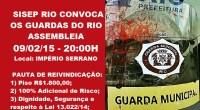 Pauta de Reivindicação dos Guardas Municipais do Rio de Janeiro.  Basta! Não podemos mais ver os guardas serem humilhados e o Poder Público ficar omisso! O SISEP Rio vem […]