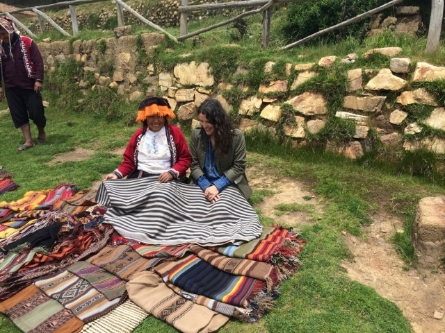 Mari in Peru studying culture and textiles