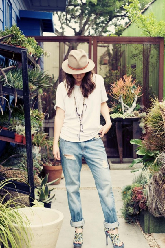 Woman standing in a plant shop