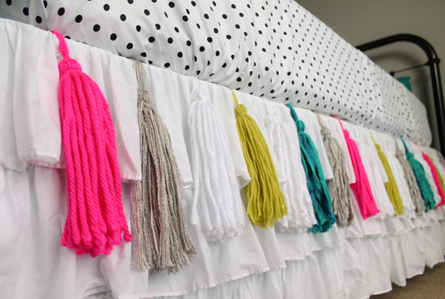 Tassels with sheet