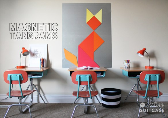 DIY magnetic wall and tangra