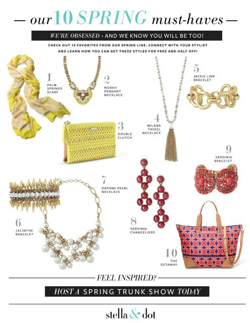 stella & dot spring must haves