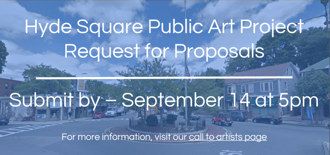 Art Opportunity Alert: Hyde Square Redesign In Boston's Jamaica Plain