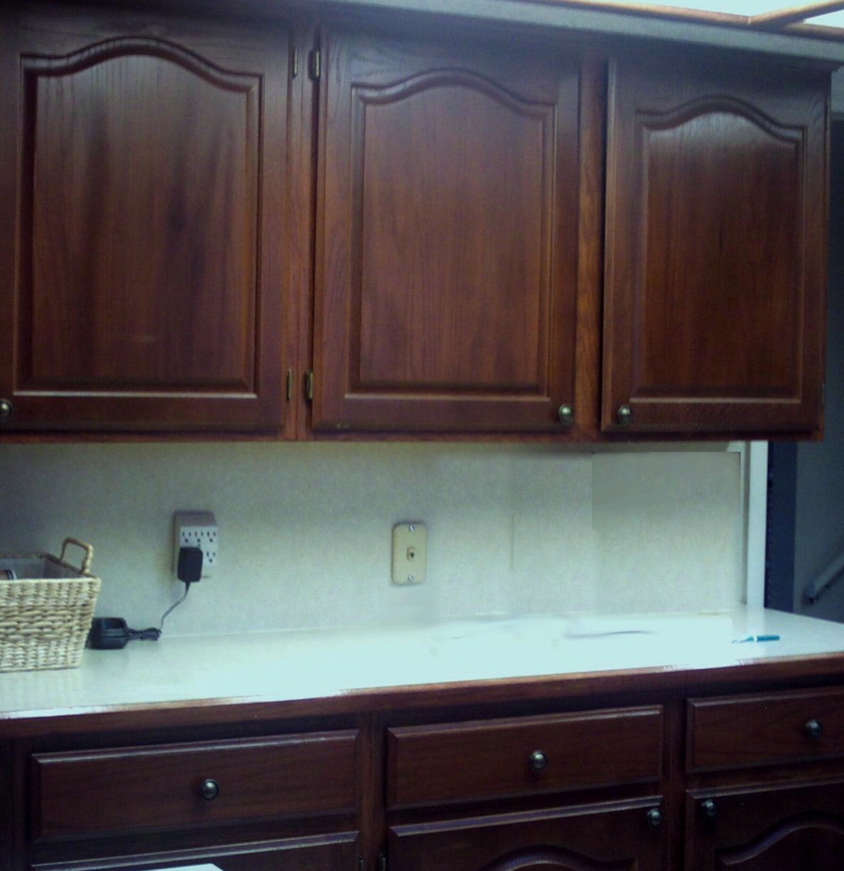 dark cabinet refinishing kitchen cabinet refinishing Kitchen cabinets and cupboards refinished in cherry wood color