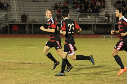 Garret Anson scores his first goal of the season v Liberty.