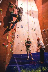 The new climbing gym in El Pomar serves a variety of students.