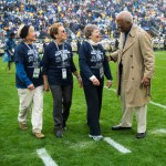 Honorary coin-toss participants. Military Appreciation Day, Penn State vs. Army, Oct. 3, 2015.