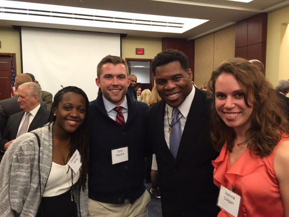 Dangaia, Zack and Joanna  with Hershel Walker - Heismann winner -  as a part of a team who spoke with congressional leaders about legislation for physical activity.