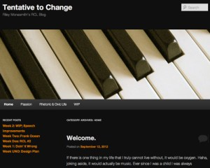 Tentative to Change Blog Screenshot